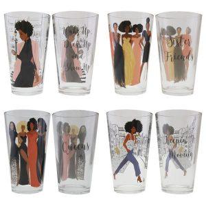 Sister Friends Drinking Glass Set