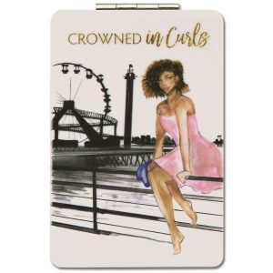 Crowned in Curls Compact Mirror