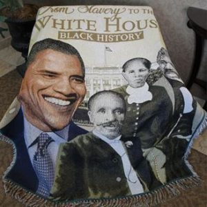 Slavery to the White House Tapestry Throw