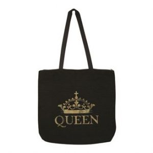 Queen Gold Crown Woven Tote Bag