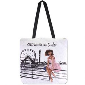 Crowned in Curls Woven Tote bag