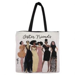 Sister Friends  Woven Tote bag